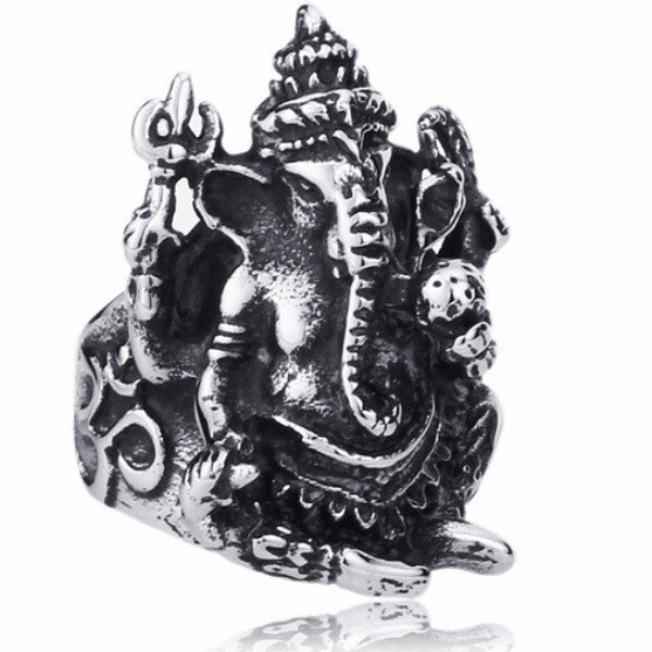 Stainless steel ring Men ~ Ganesh ~ Obstacle Remover ~-Sunetra