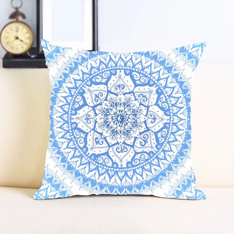 Custom Mandala Pattern Prints ~Unique Print Cushion Cover 14x14 inch