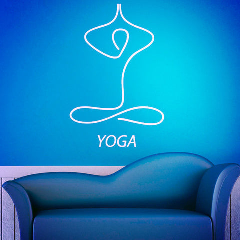 Removable Vinyl Art Wall Murals ~ Meditation Yoga Wall Stickers-Sunetra