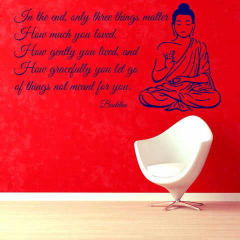 Buddha ~Wall Decals Quote Mural Bedroom Decorative Sticker-Sunetra