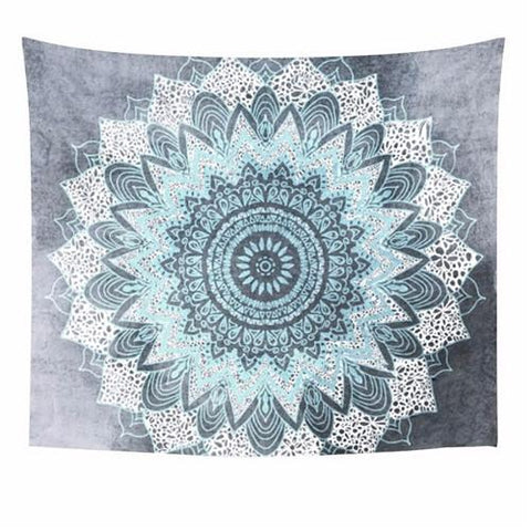 Bohemian Mandala Tapestry Wall Hanging ~Moroccan Indian Printed Decorative Wall Tapestries ~150X150Cm-Sunetra