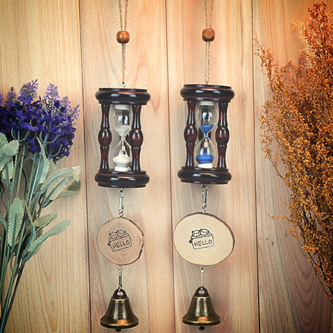 Wood Hourglass Bells ~ Wind Chimes-Sunetra