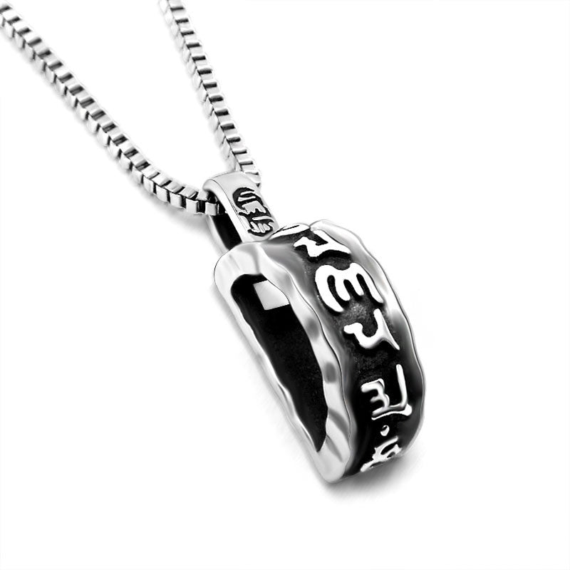 Fashion stainless steel om mani padme hum pendant men mantra fashion stainless steel om mani padme hum pendant men mantra hollow necklace jewelry mozeypictures Images