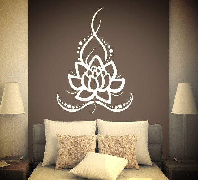 Removable Wall Mural Vinyl Stickers Yoga Lotus Sunetra