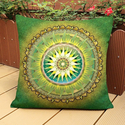 Mandala Cushion Cover ~Thin Linen Cotton Pillow Case ~45X45cm pillow case
