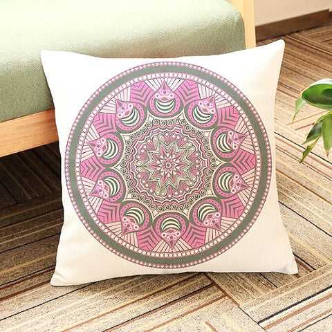 Mandala Cushion Cover ~Thin Linen Cotton Pillow Case ~45X45cmpillow case