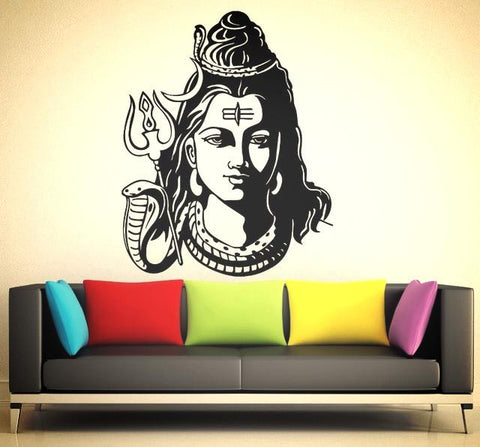 God Shiva ~ Wall Sticker~ Vinyl Wallpaper Mural-Sunetra