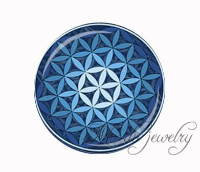 Green purple blue Flower Of Life necklace Om flower pendant necklace mandala jewelry Yoga necklaces Zen jewelry choker necklace 5-Sunetra