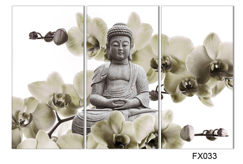 HD Buddha CANVAS PRINTS ~ 3 Panels Unframed Painting Home Decoration