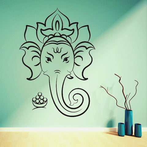 HINDU GOD GANESHA ~ Elephant Wall Art Decal-Sunetra