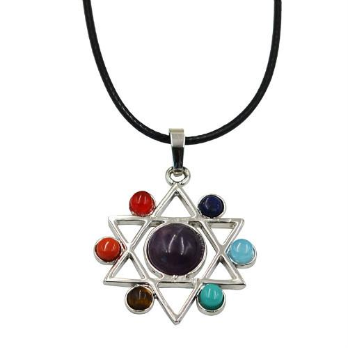 Hinduism Mandala Zen Tree Of Life Healing Reiki Meditation 7 Chakras Necklaces&Pendants Yoga Jewelry collier femme  bijoux Women style18-Sunetra