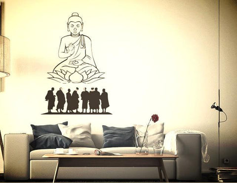 Art Wall decor Mural Vinyl ~ Sacred Buddha Religion design 55*100cm-Sunetra