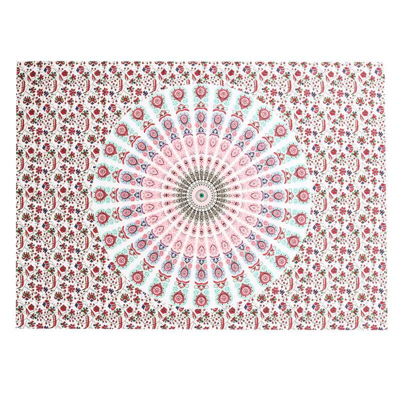 Indian Bohemian Mandala Tapestry ~Wall Hanging ~Sandy Beach Picnic Throw Rug Blanket  Chocolate-Sunetra