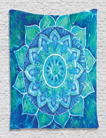 Indian Bohemian Mandala Tapestry ~ Wall Hanging