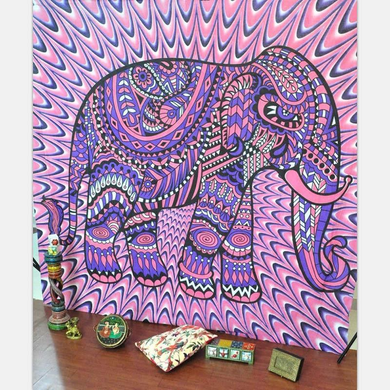 Indian Style Tapestry Elephant Printed ~Wall Hanging Rectangle Decorative Tapestries ~130cmx150cm 153cmx203cm Sheet Tapestry 001-Sunetra