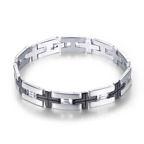 Men's Bracelets Trendy Jesus Christian Cross Sign Bangles Fashion Jewelry-Sunetra