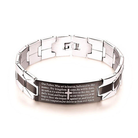 KISS MANDY 2016 Men's Bracelets Trendy Jesus Christian Cross Sign Bangles Fashion Jewelry FB14 FB14-Sunetra