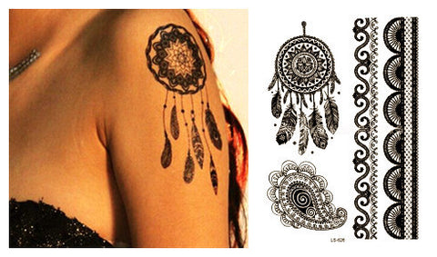 Laciness style LS-626 21 X 15 CM Sized ~ Beauty Tattoo Waterproof Temporary Tattoo Stickers-Sunetra