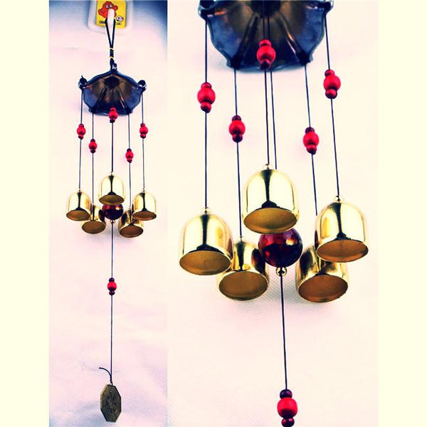Large copper wind chimes antirust bell outdoor ~-Sunetra