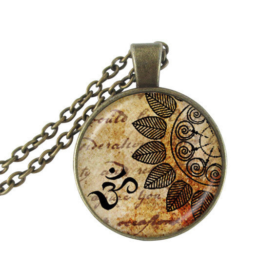 Om pendant Yoga jewelry mandala necklaces