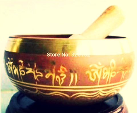 Singing Bowl ~Tibetan Buddhism Cuprum Mantra Meditation Bowl-Sunetra