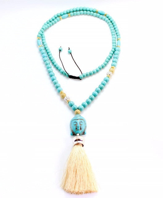 Tassel Seed Buddha pendant Beads ~Natural Stone Necklaces-Sunetra
