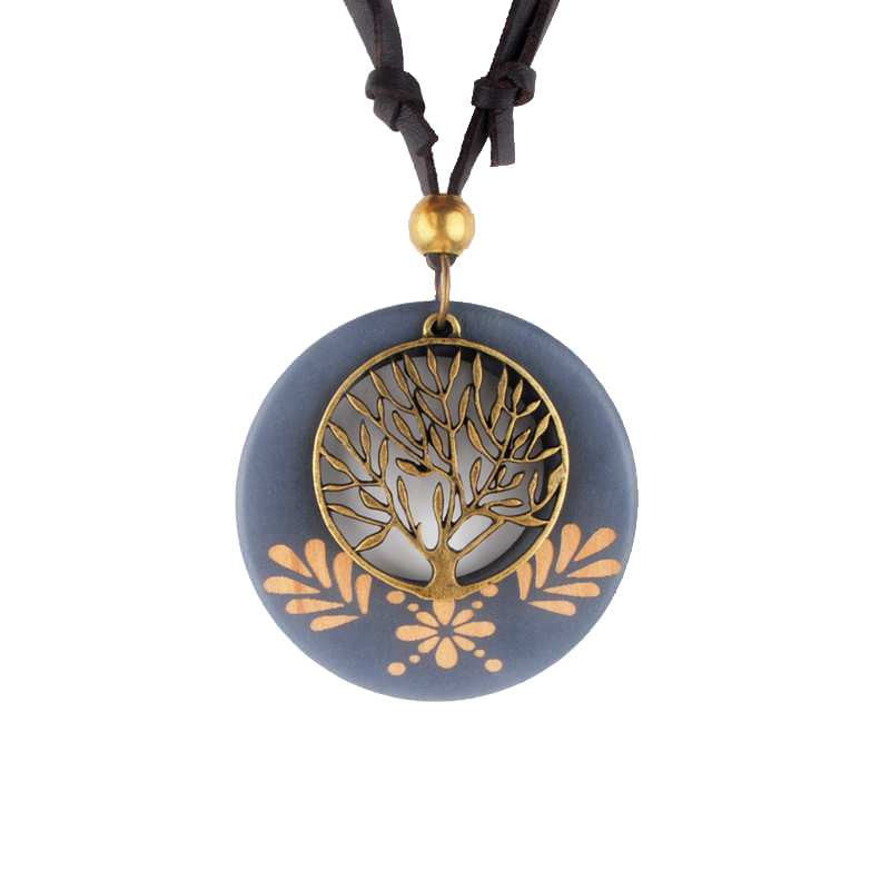 Vintage necklaces pendants necklace alloy life tree wooden pendant vintage necklaces pendants necklace alloy life tree wooden pendant necklace wood aloadofball Image collections