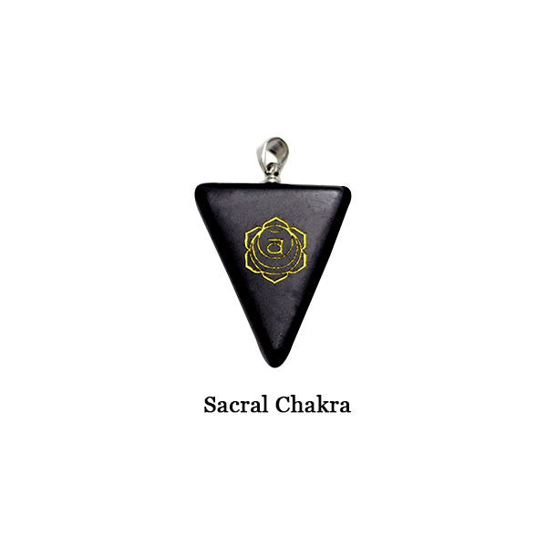 Reiki Triangle Necklace Black Onyx Stone Chakra Pendant For Birthday Gifts Natural Stone Necklace Agate Choker Necklace Pizza Sacral Chakra-Sunetra