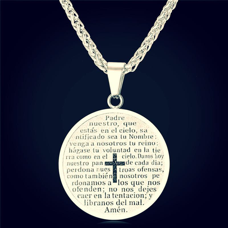 Cross Bible Necklaces & Pendants Yellow Gold Plated ~Stainless Steel  stainless steel-Sunetra