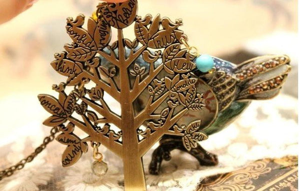 Vintage Style Bronze ~Tree of Life Pendant Necklace ~ 6 Pcs-Sunetra