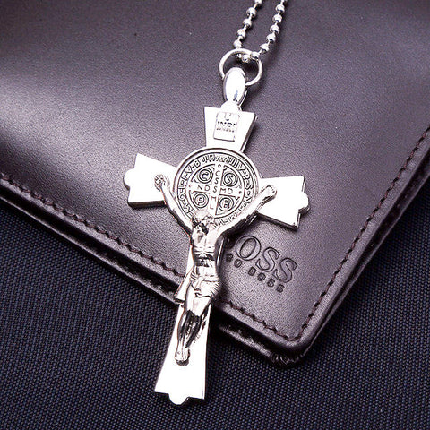Silver Plated Jesus Pendant ~ Necklace Women/ Men