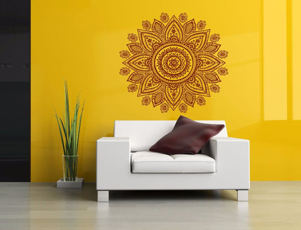 Wall Vinyl Sticker Decal Mural Room Design Mandala Yoga Hindu Flower  22X22inch-Sunetra