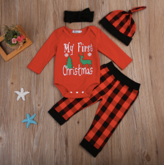baby first christmas outfit, my 1st Christmas onesie, baby boy, baby girl