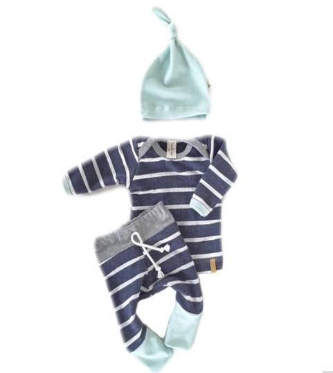Boys Striped Romper Set