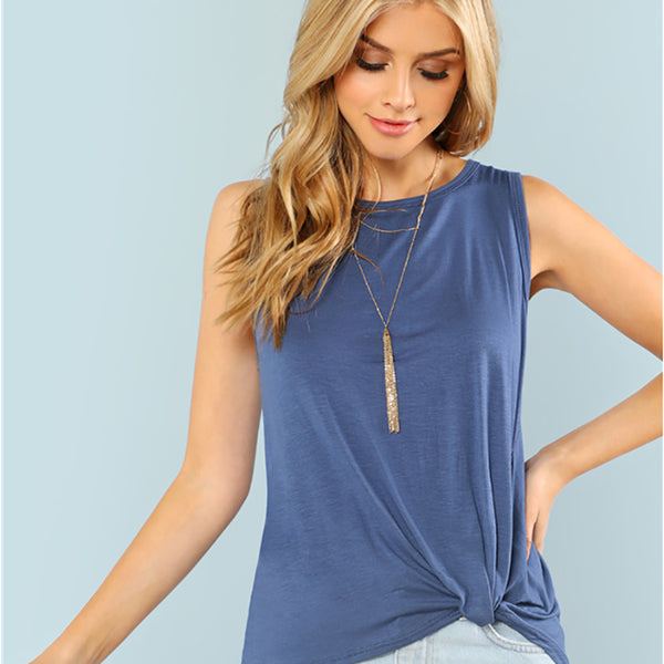 cute tops for women, twist knot top, sleeveless, pinterest knot tops