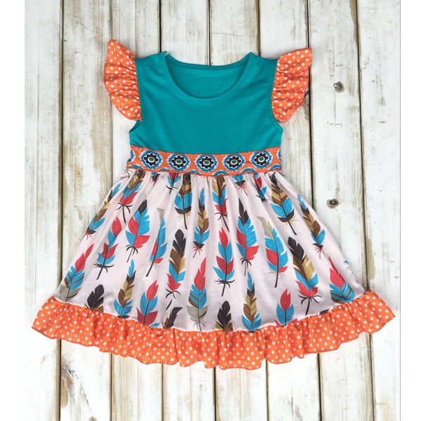 girls thanksgiving dress, fall feather ruffled dress for baby girls, holiday boutique dress, pinterest