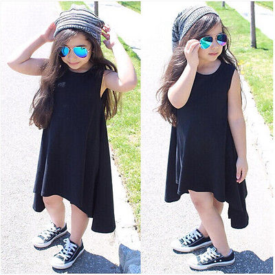 Irregular Hem Toddler T-Shirt Dress