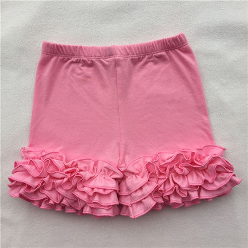 Ruffled icing shorts boutique baby girls