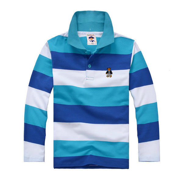 cute shirts for boys, blue striped polo shirt, boys boutique winter