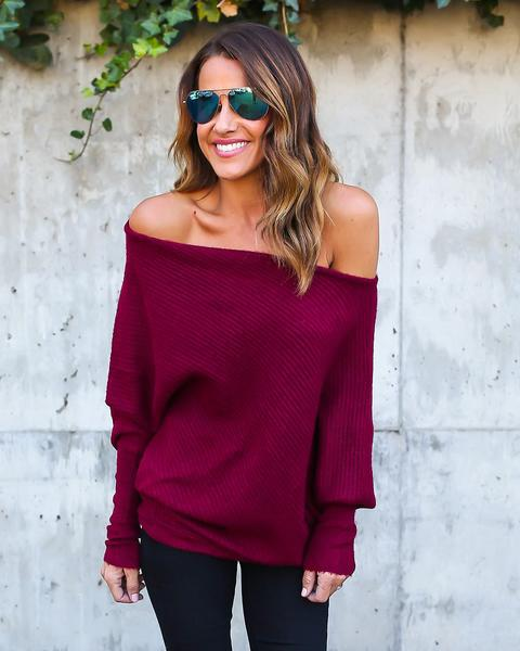 Autumn Shoulder Sweater