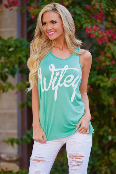 wifey racerback tank for women, boutique tops for women, summer tops