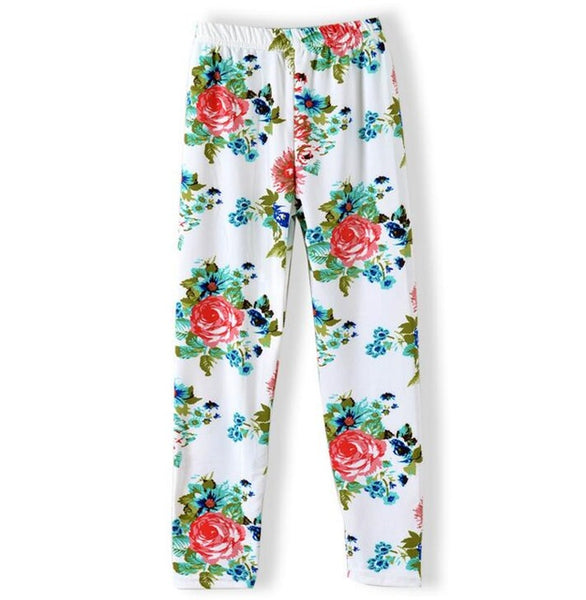 cute girls leggings, fall floral leggings for toddlers and little girls