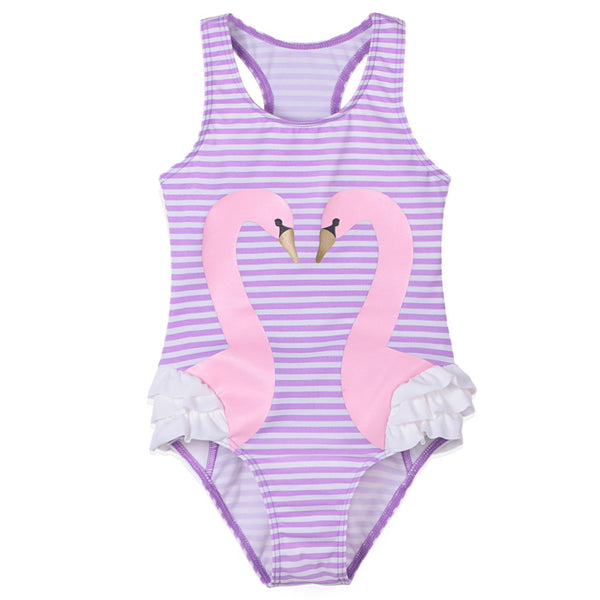 cute swimsuits for toddlers, cheap flamingo striped swimsuit for girls