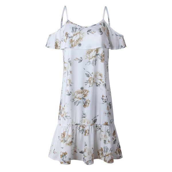 Butterfly Sleeve Floral Dress