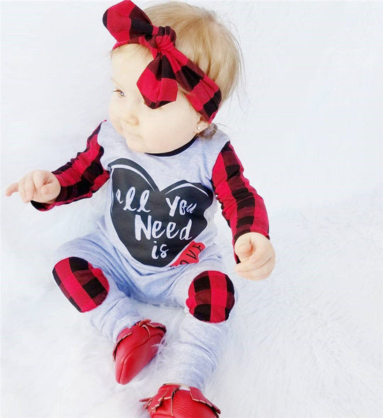 adorable red n love romper for baby boys or baby girls, cute Valentines outfit for babies