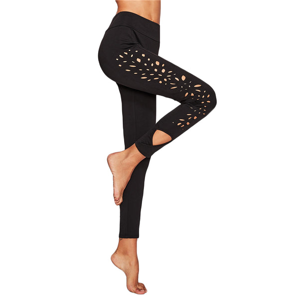 hollow out black lace leggings for ladies, fall trendy leggings,
