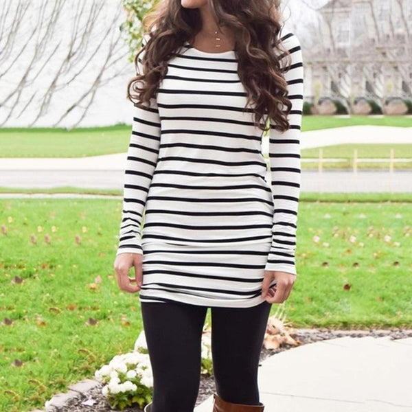 cute striped ladies top tunic for fall