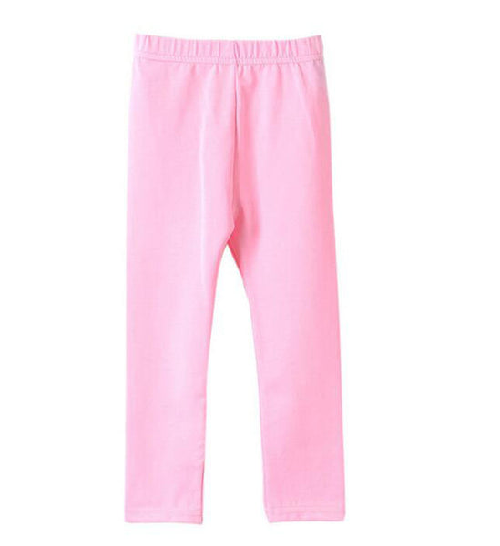 Girls Solid Leggings (2-11y)