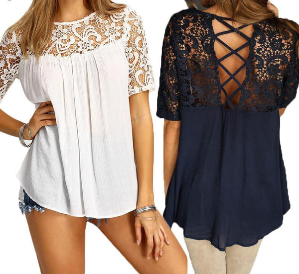 gorgeous lace open back blouse, lovely boutique top for ladies, lace blouse