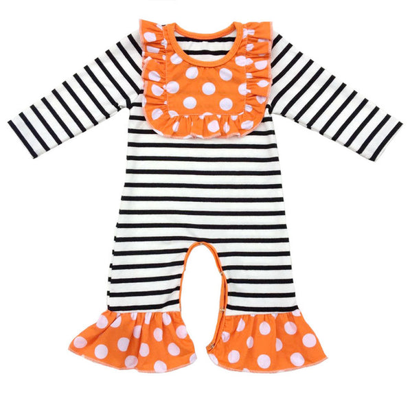 Ruffled Fall Baby Rompers